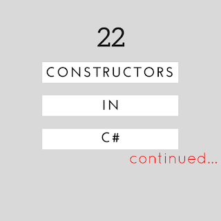 what are constructors and types of constructors continued