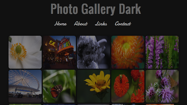 Dark Photography Blogger Template