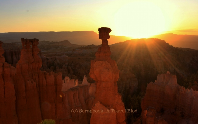 Utah Bryce Canyon National Park Thors Hammer Sunrise