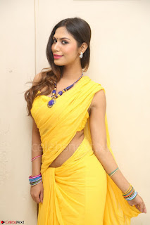 Nishigandha in Yellow backless Strapless Choli and Half Saree Spicy Pics 117.JPG