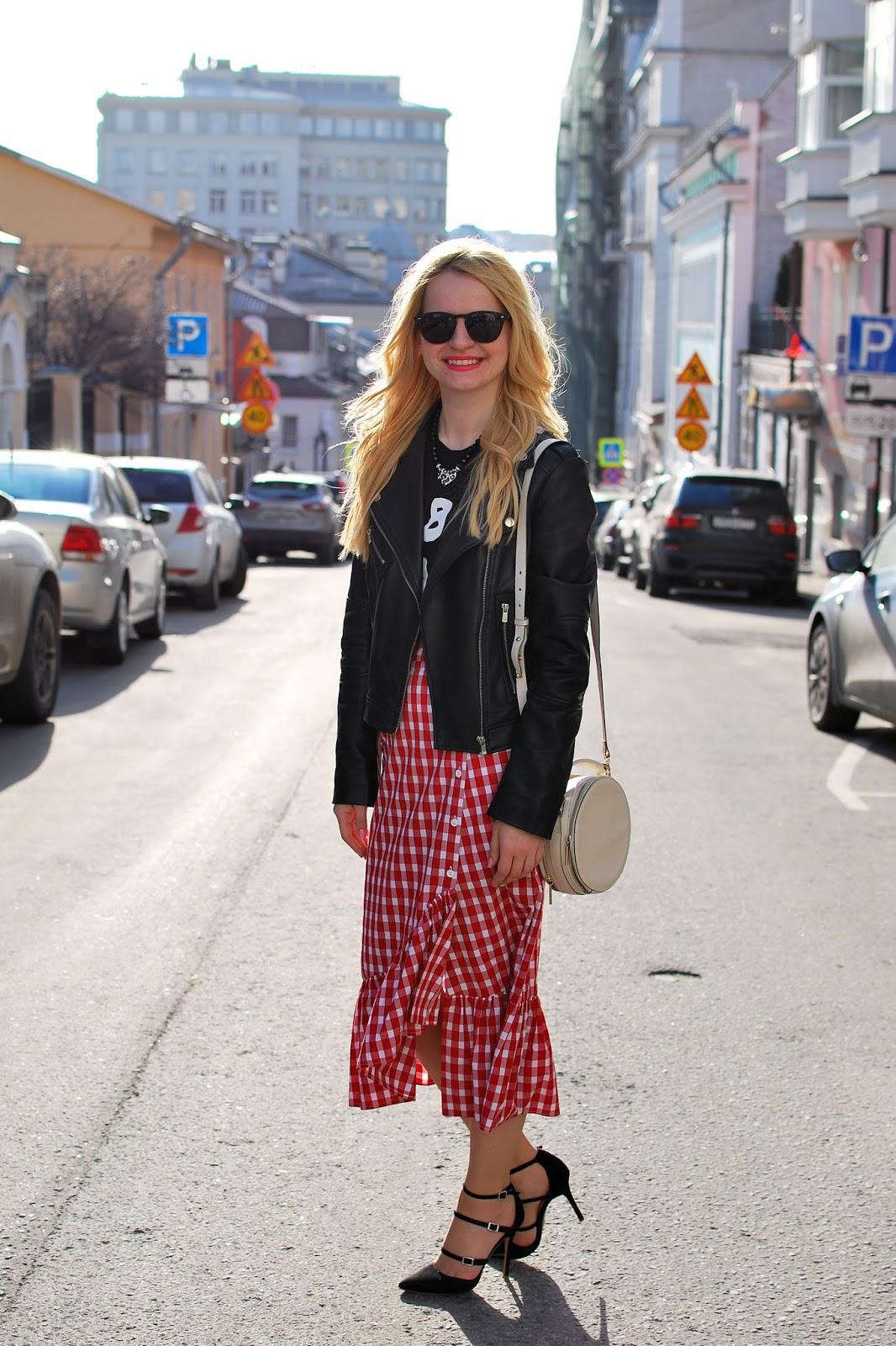модные тенденции фото,  модный лук, лук весна, лук лето, модные тренды клетка