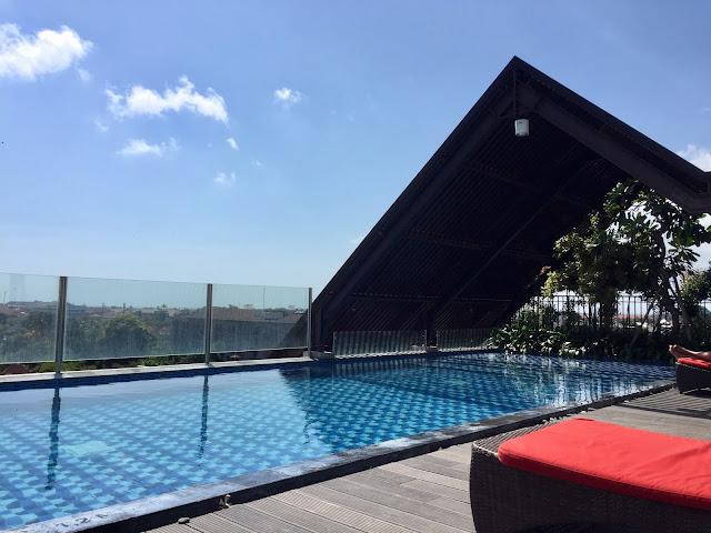 Rooftop pool in Legian, Bali, Indonesia