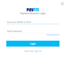 Login/signup on paytm business gateway website to start your merchant account making process