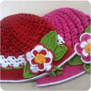 Gorros para niñas a Crochet