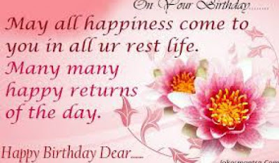 Happy Birthday massages wishes for friends: many all happiness come to you in all your rest life