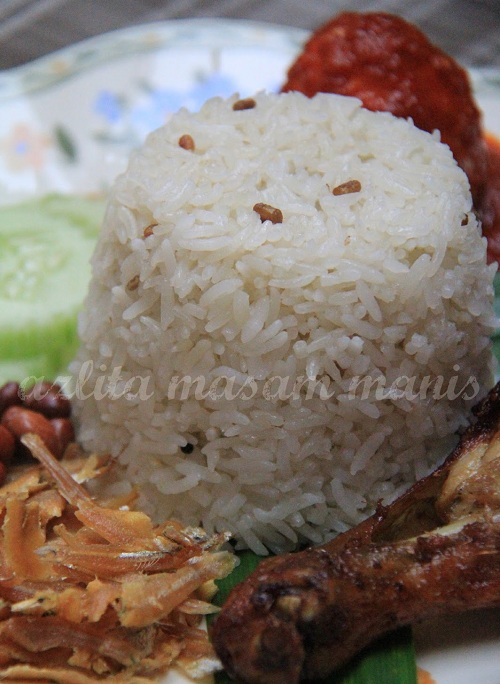 Resepi Nasi Lemak Halba Kukus!!