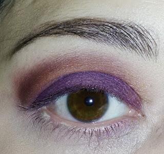 Trucco ombretto kiko viola marrone