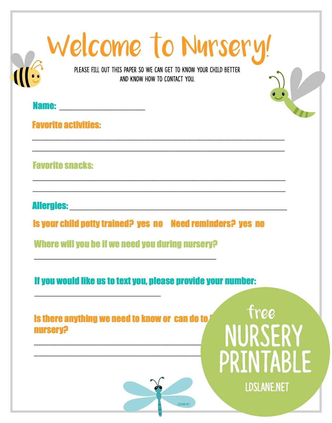 Free Lds Nursery Printable