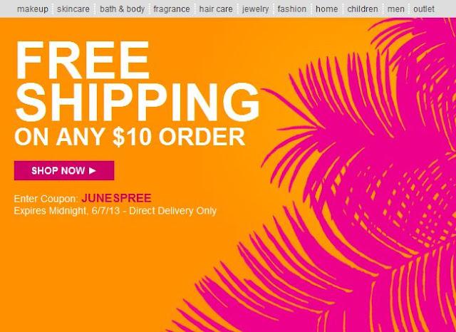 Avon Free Shipping June 2013