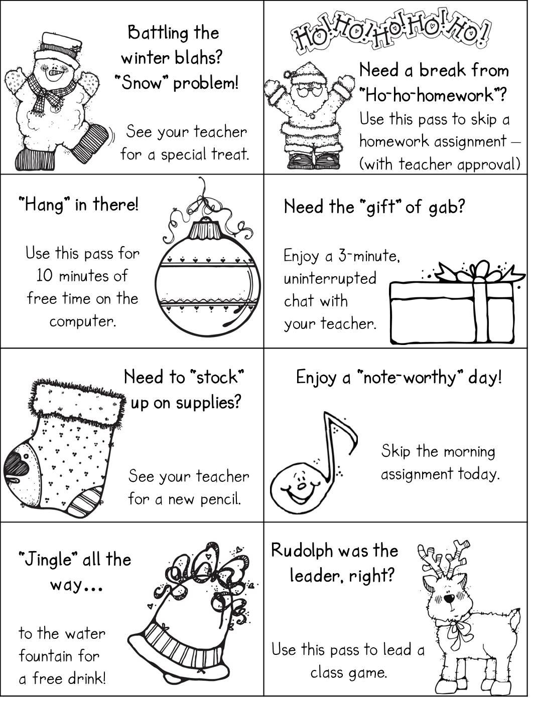 2ndGradeSmiles: Holiday Homework Passes...