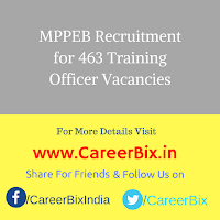 MPPEB Recruitment for 463 Training Officer Vacancies