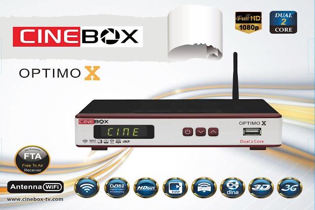 Resultado de imagem para CINEBOX optimo X DUAL CORE az tudo