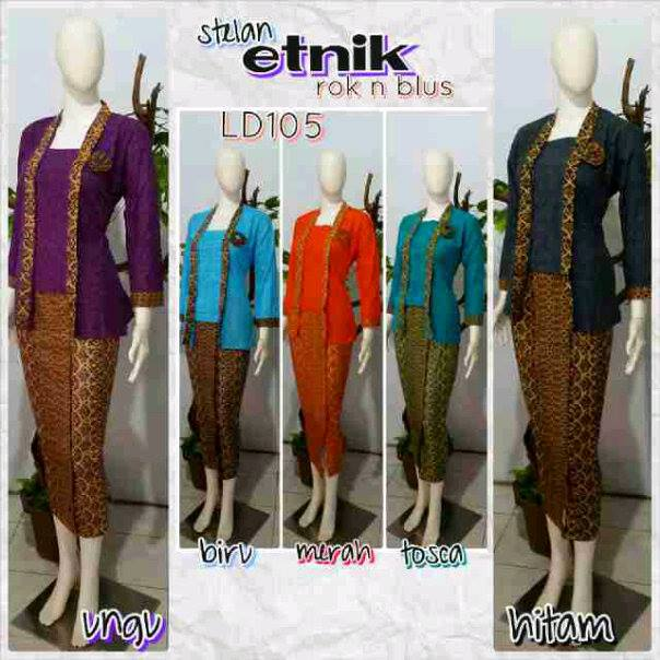 Baju Setelan Batik Wanita: Baju Setelan Batik Wanita Bawahan Rok Panjang