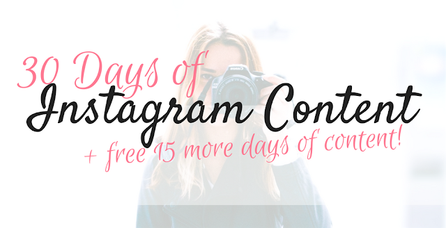 SWIPEFILE: 30 Days Of Instagram Content! (+15 Extra Days FREE!)
