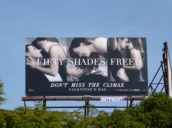 Fifty Shades Freed billboard