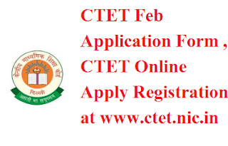 CTET Feb Application Form 2017
