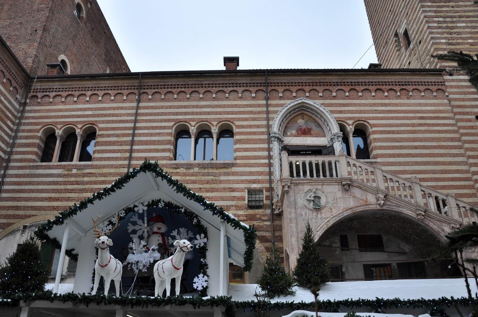 Christmas scenes, Nuremberg Christmas market, Verona, Italy