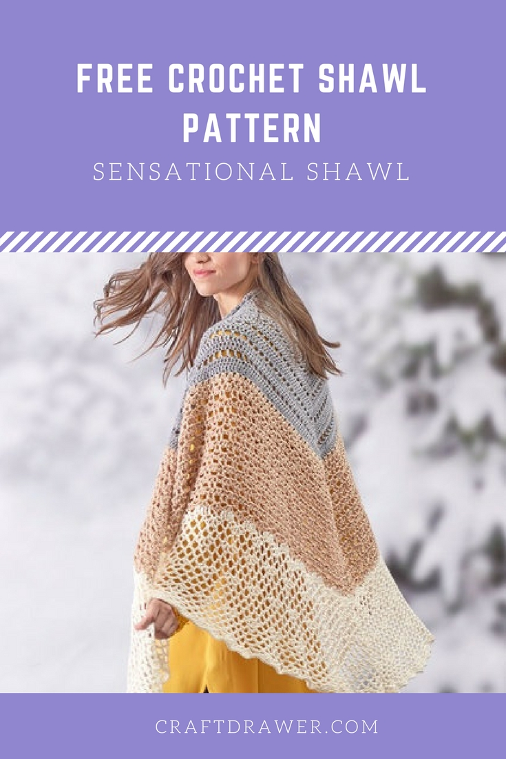 Free Crochet Shawl Pattern Sensational Shawl Crochet Pattern