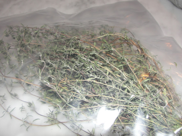 dry herbs in bag