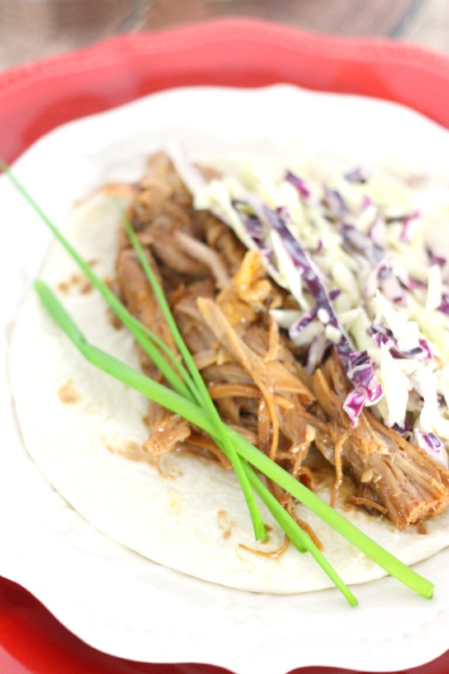 Slow Cooker Asian Pork Tacos from Mama Loves Food