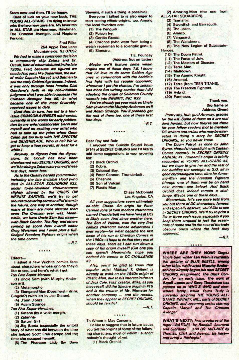 Read online Secret Origins (1986) comic -  Issue #19 - 43