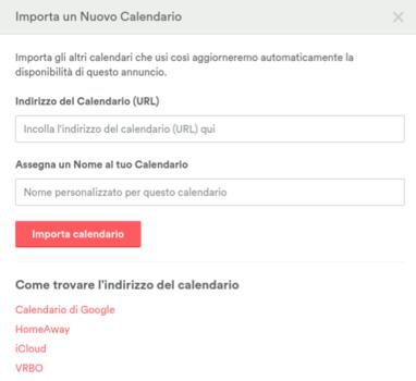 esporta calendario airbnb