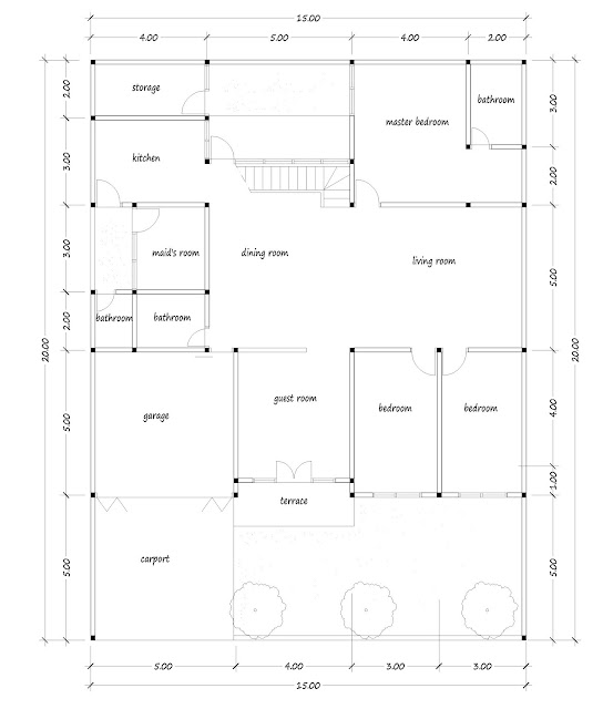 House with floor area of 300 square meters - 01