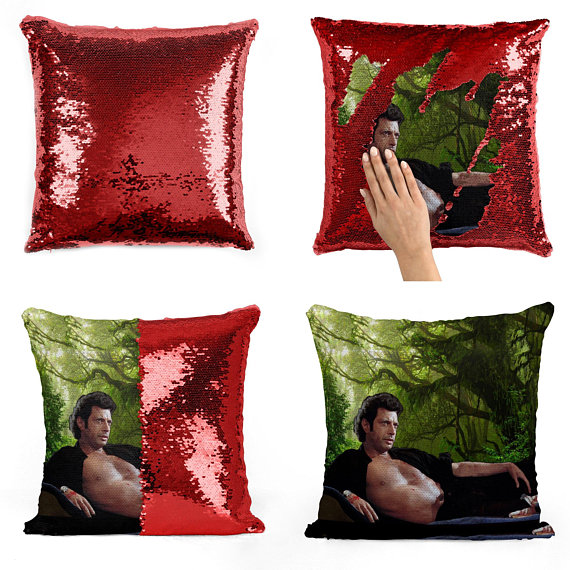 Jeff Goldblum novelty cushion