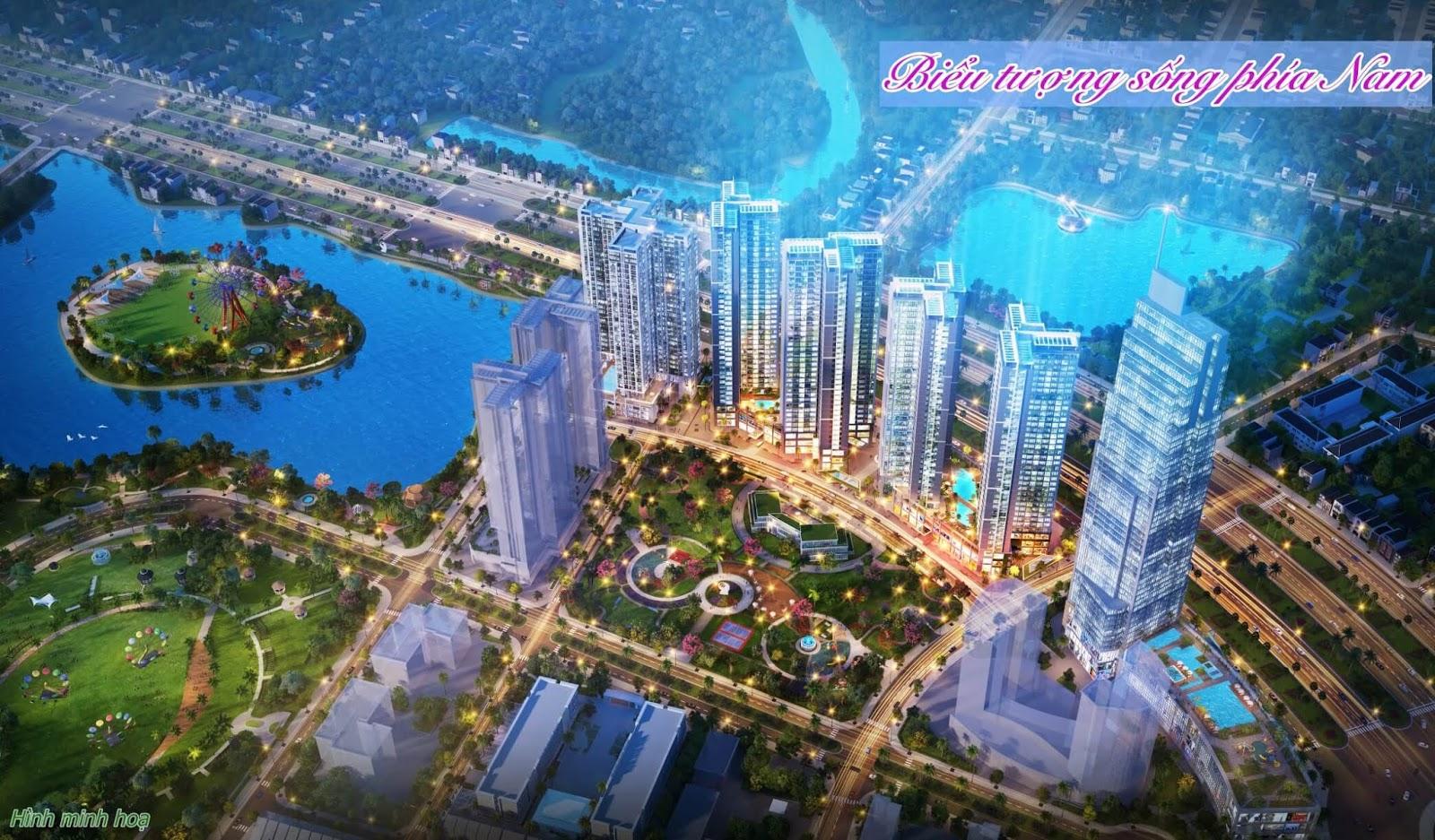 Phối cảnh tổng thể của dự án Rose Town