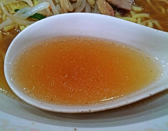 Aセットのラーメンのスープの写真