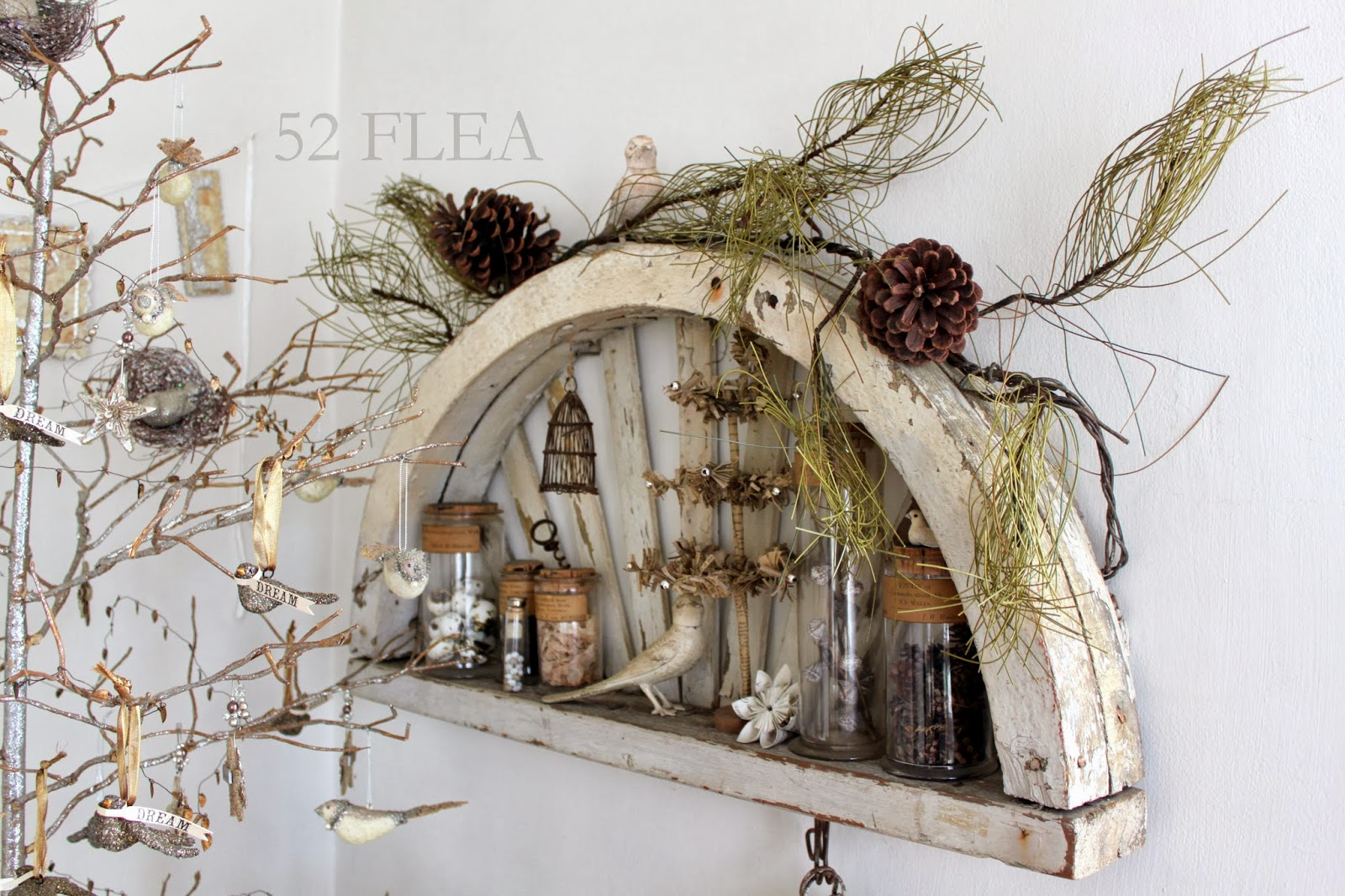 52 FLEA: Paula39;s Cozy Christmas Cottage 2013  Part 1