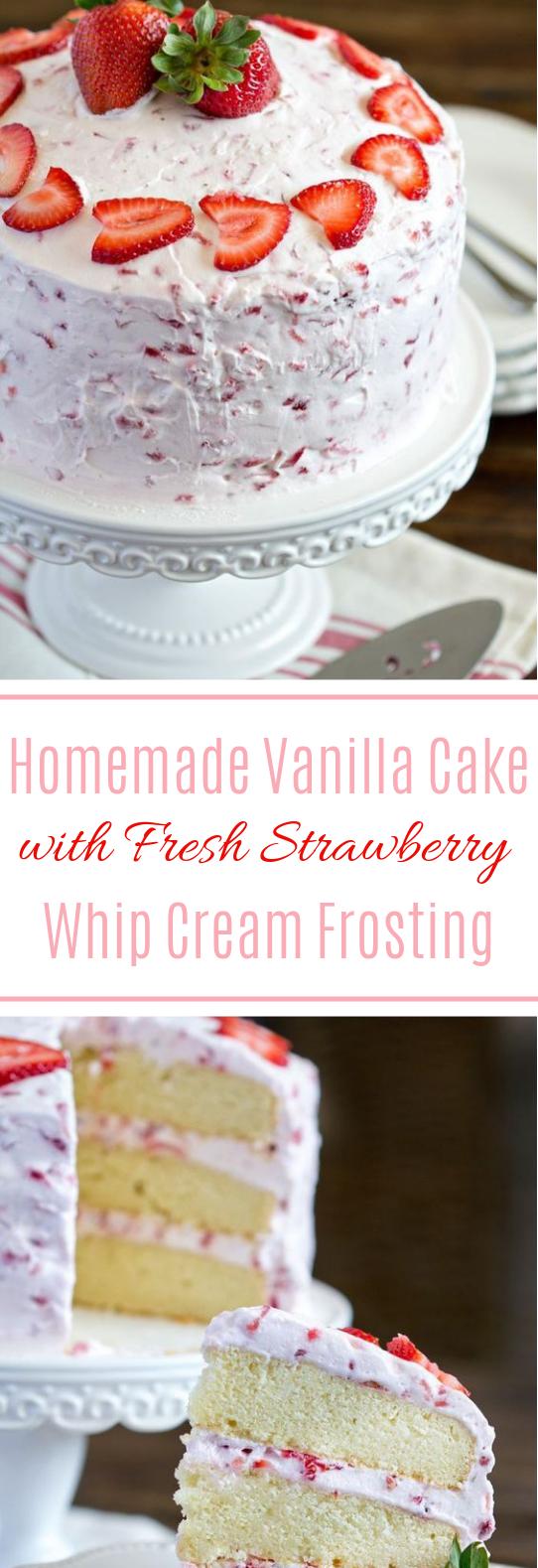 Fresh Strawberry Cake #dessert #sweettreat