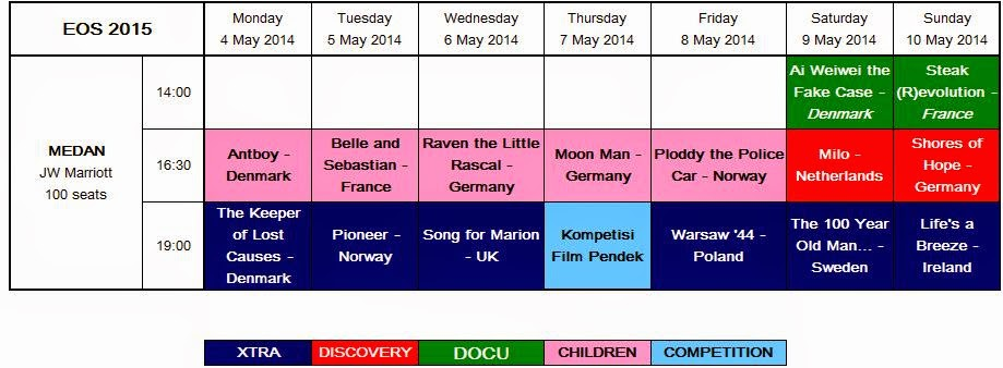 Program Acara Europe on Screen 2015 Medan