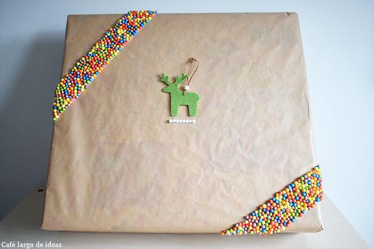 packaging handmade con bolas de poliespan