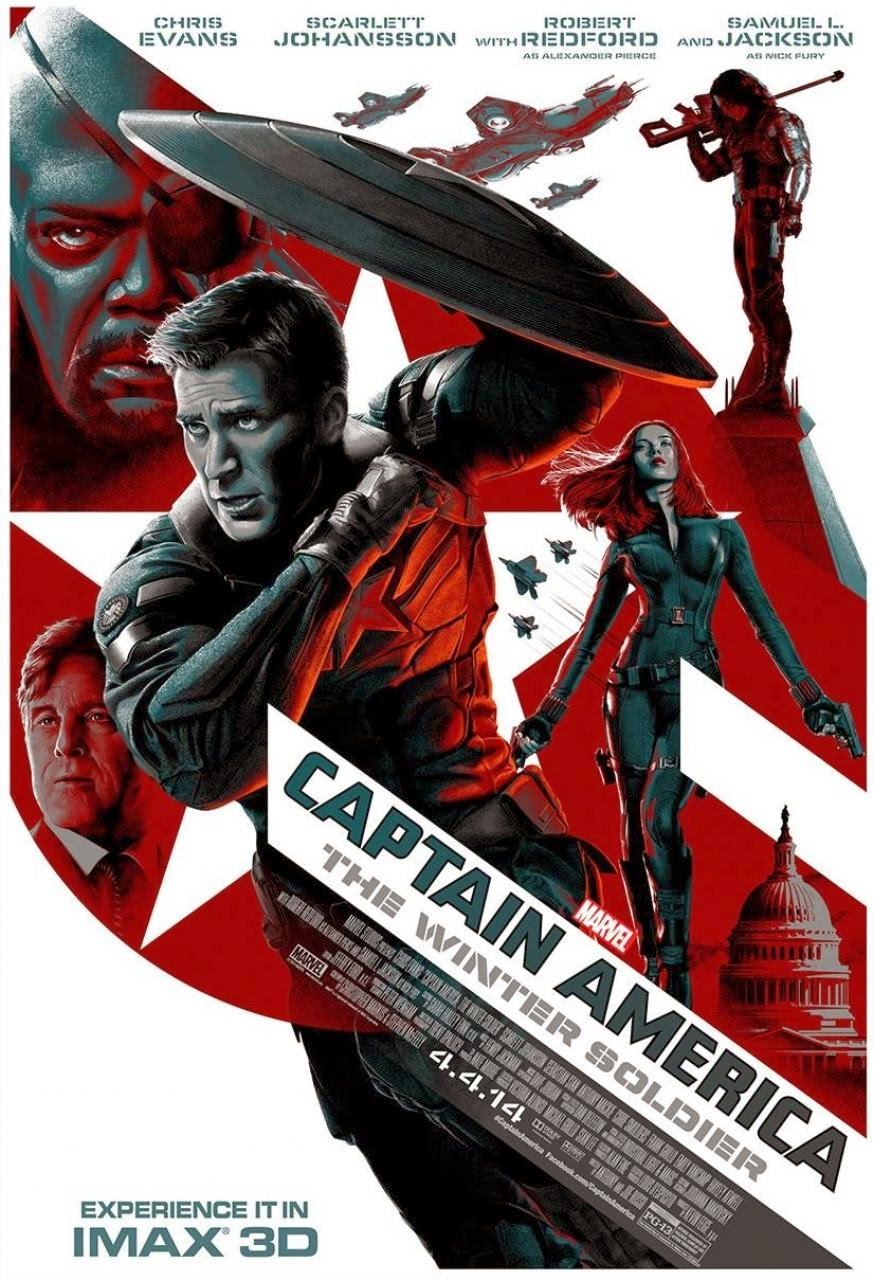 Affiche alternative US Captain America: The Winter Soldier
