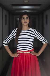 Varshini Sounderajan Long Legs Show In Mini Red Skirt (4)