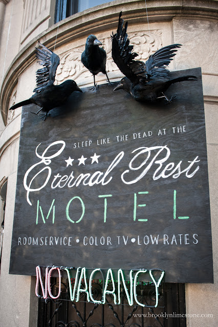 Both DIY and elements from Lowes make this amazing Haunted Hotel Halloween a success.