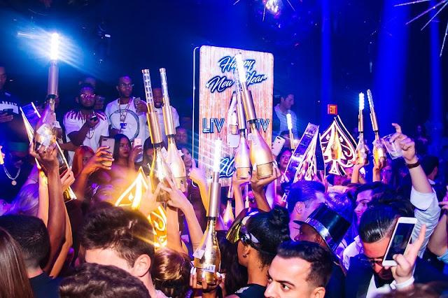 Noite na balada LIV Nightclub em Miami
