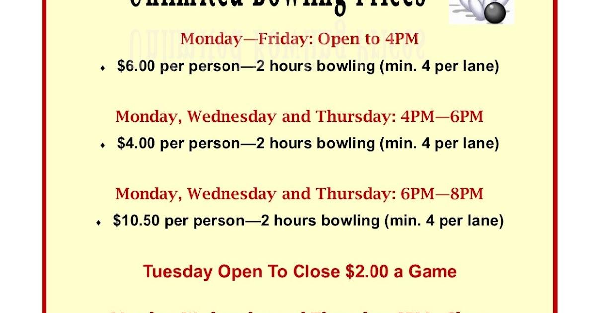 Amf Bowling Food Menu Prices
