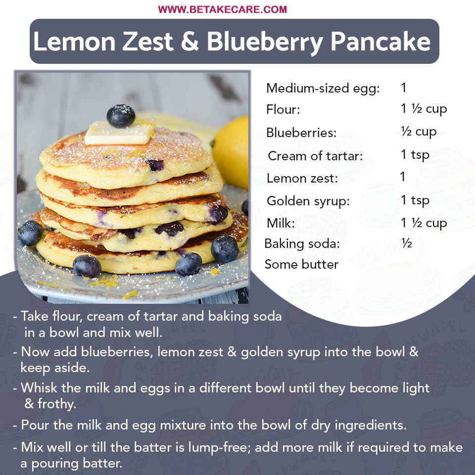 Lemon Zest And Blueberry Pancake
