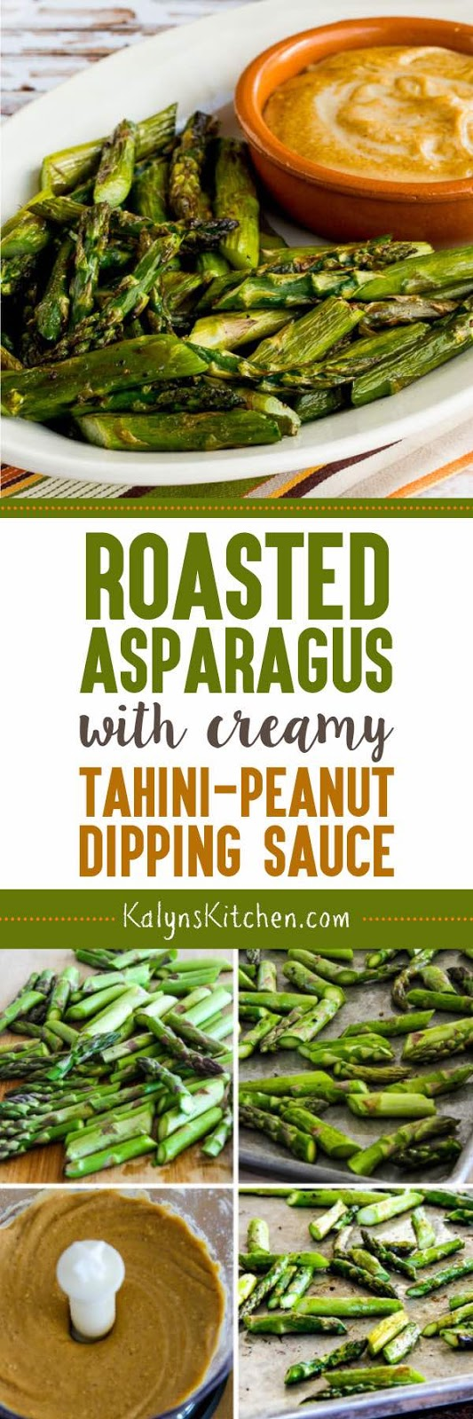 Roasted Asparagus with Creamy Tahini-Peanut Dipping Sauce ...