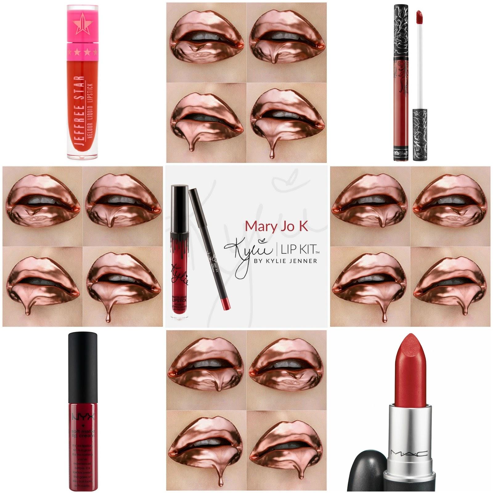Lovejade Highend Drugstore Kylie Jenner Lip Kit Dupes Matte Liquid Marry Jo Jeffree Star Lipstick Redrum