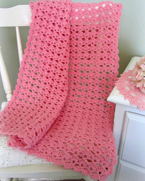 Lovely Shells Baby Blanket - Free Pattern