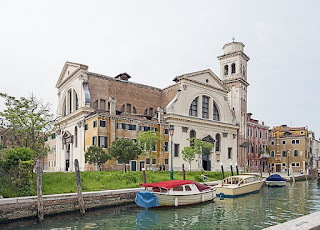 The two facades of the Chiesa di San Trovaso, the  centrepiece of the neighbourhood of the same name