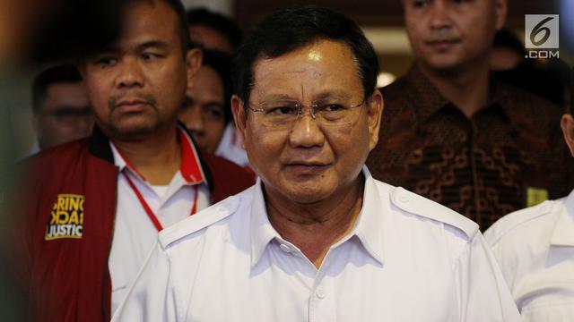 Isu Golkar Tinggalkan Jokowi, Ini Komentar Prabowo