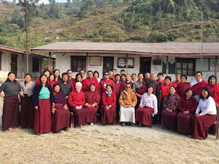 Group photo with Lama