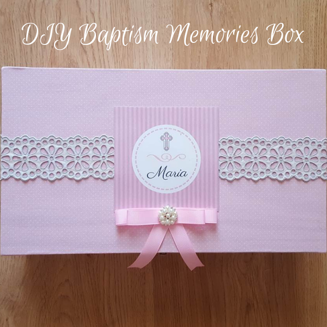 DIY Baptism Memories Box