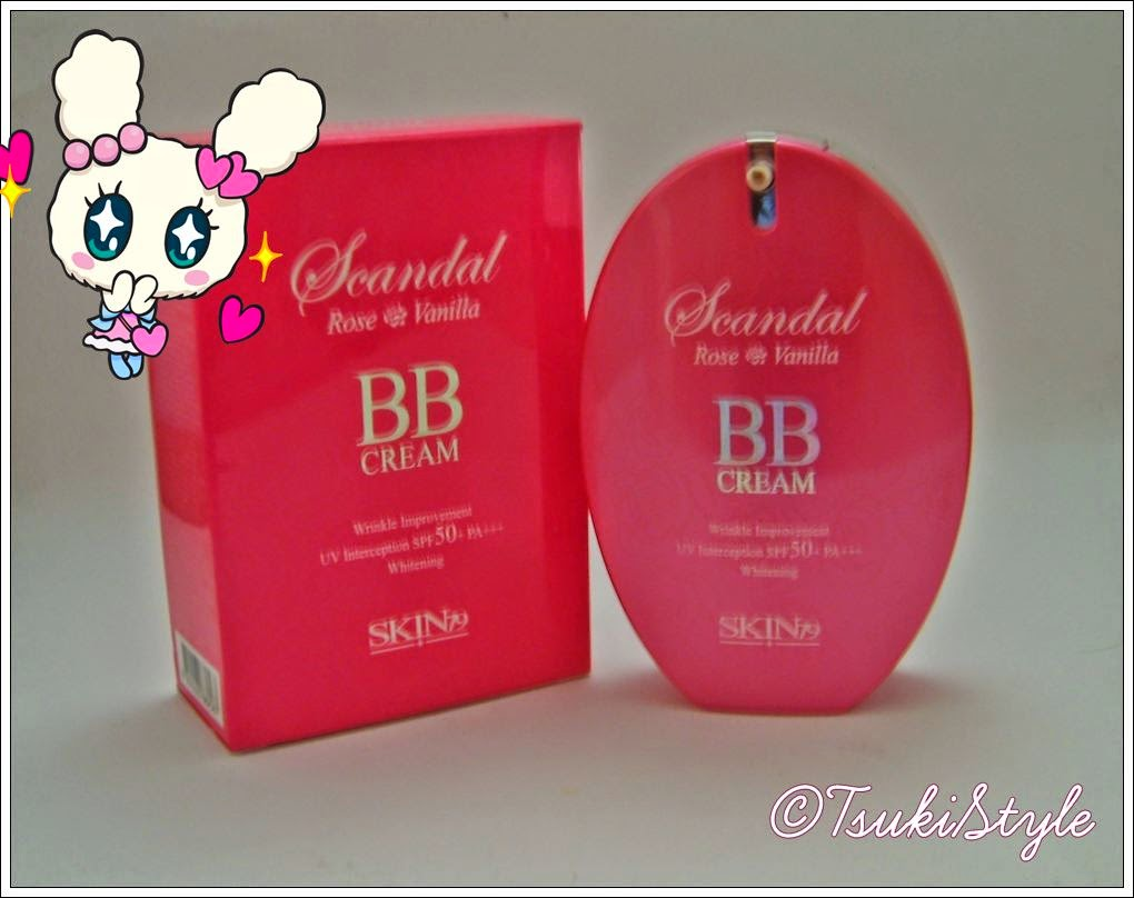 BB Cream Scandal rose vainilla, tsuki style makeup