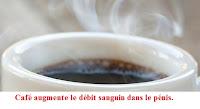 Café augmente le débit sanguin pénis pour santé sexuelle