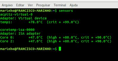 Linux: CRIANDO UM SCRIPT QUE MONITORE A TEMPERATURA DO SERVIDOR OU DESKTOP E LHE MANDE UM EMAIL CASO A TEMPERATURA ESTEJA ALTA